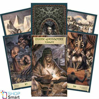 Dark Grimoire Tarot Deck Cards Esoteric Fortune Telling Lo Scarabeo New