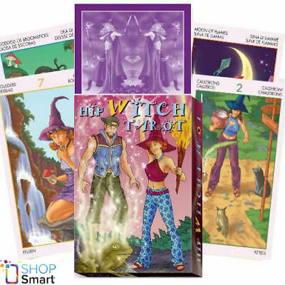 Hip Witch Tarot Deck Cards Set Esoteric Fortune Telling Lo Scarabeo New
