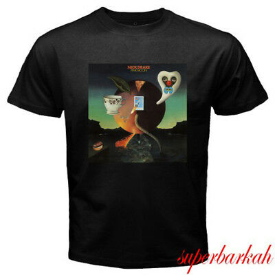 Men's Clothing Tops & Tees New Nick Drake Pink Moon Singer And Musician Mens Black T Shirt Size S To 3xl