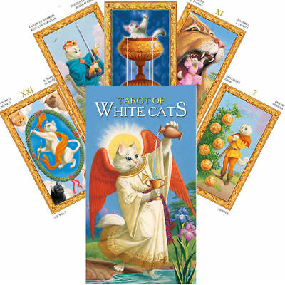 Tarot Of White Cats Deck Cards Baraldi Esoteric Fortune Telling Lo Scarabeo New
