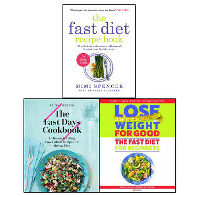Fast Diet Recipe Collection 3 Books Set Pack Fast Days Cookbook, Fast Diet NEW