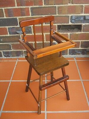 Vintage Beautifully Hand-made Doll's High Chair. For Doll's or Bears.