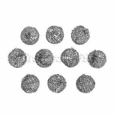 10pcs Tobacco Pipe Metal Screen Smoking Ball Filter Promote Combustion 14cm Dia