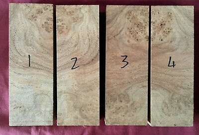 Amboyna burl / burr knife scale / handle block / carving block 150 x 50 x 25mm