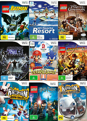 Nintendo Wii Games - Choose Your Own Titles *Free Next Day from Sydney*
