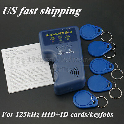 Portable Handheld RFID Card Writer/Copier Duplicator for 125KHz Cards/Keyfobs