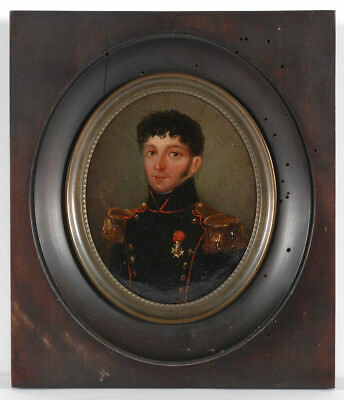 """""""Captain of Army Foot Artillery"""", French oil miniature, 1824/30"""