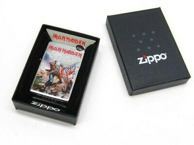 Zippo Full Size Brushed Chrome Iron Maiden Windproof Lighter 29432