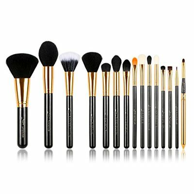 Jessup 15 Pcs BlackGold Pro Makeup Brushes Makeup Brush Set Beauty Cosmetics Po
