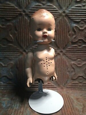 Vintage Creepy Funky Doll Torso With Stand