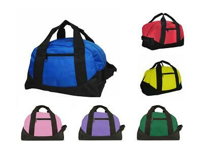 "12"" Duffel Duffle Travel Sports Gym Bags Mini Carry-on Luggage Small Two Tone"