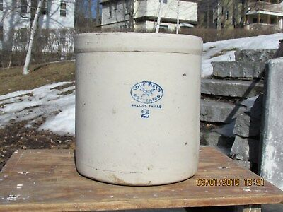 Love Field 2 Gallon Stoneware Crock Dallas Texas