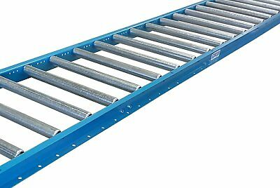 "Gravity Conveyor 1-3/8″ dia. / 1.4"" galvanized steel rollers on 6"" roller 12″ 5′"