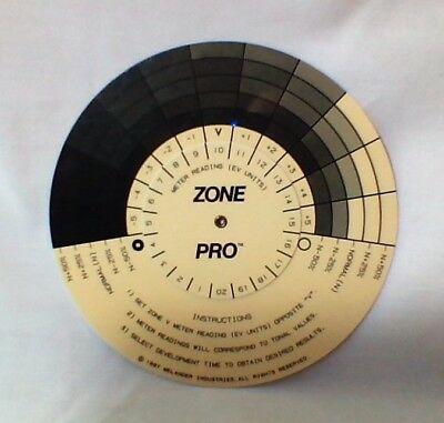 "ZONE PRO, Zone system ""computer"" for B&W photos"