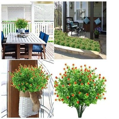 4pcs Artificial Greenery Plants Fake Shrubs For Home Decor Indoor