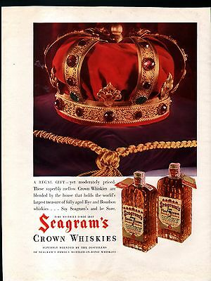 1935 SEAGRAM's CROWN WHISKIES & STERLING ENGINE ADS- NATIONAL MOTOR BOAT SHOW