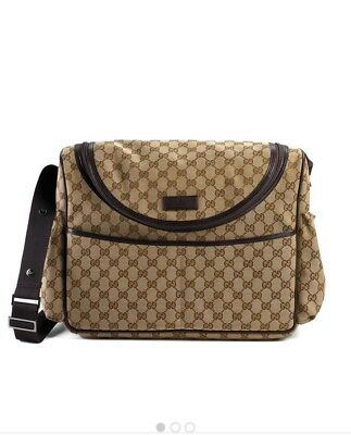 100% Authentic NWT Gucci GG diaper bag Travel Zip with Pad $1350