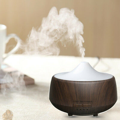 Ultrasonic LED Color-changing Wood Grain Aroma Diffuser Humidifier Aromatherapy