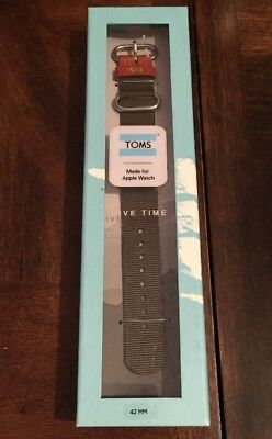 TOMS Apple Watch Band, 42mm - Olive Green NEW In Box FREE Shipping