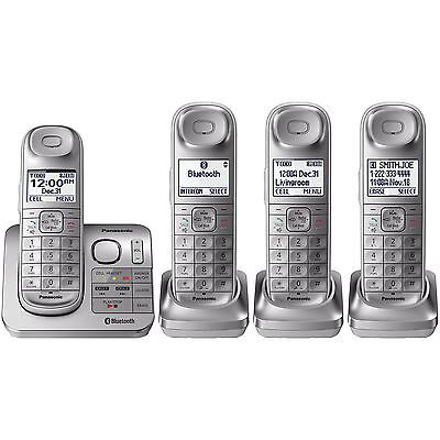 Panasonic KX-TG674SK Bluetooth Link2Cell DECT 6.0 Digital Cordless Phone System