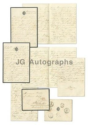 Rare 1865 Russian Letter Document Original Antique Cover Royalty Imperial Russia