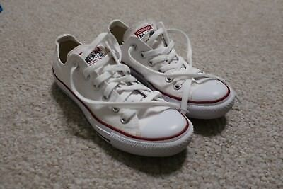 2ea680d2be2 Converse Chuck Taylor All Star White Canvas Low Tops 5 Men Size 7 Women
