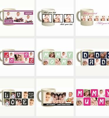 Photo Mug / Personalised Mug / Custom Gifts / Collage Pictures / Coffee Tea Cup