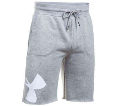 Under Armour Men's UA Rival Fleece Shorts Size M L XL Gray Exploded Logo 1303137