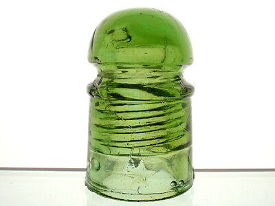 GLOWING YELLOW OLIVE GREEN CD 102 DOUBLE STAR Pony Insulator