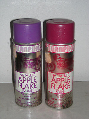 Vintage Pair of Metallic Apple Flake Spray Paint Cans NYBPCO