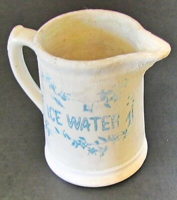 Vintage White Porcelain Ice Water Pitcher - Lots of Character