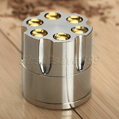 Alloy Smoking Tobacco Crusher Hand Muller Herb Spice Grinder Storage 3 Layers