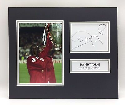 39e84366d RARE Dwight Yorke Manchester United Signed Photo Display + COA AUTOGRAPH  MAN UTD