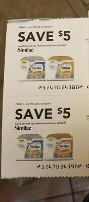 4 $5 Off on any Enfamil & 2 $5 off *Good on any Similac formula*EXP 4/25/2018