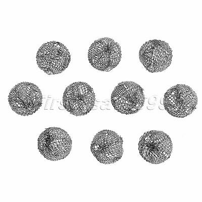 10pcs Tobacco Pipe Metal Screen Smoking Ball Filter Promote Combustion 18cm Dia
