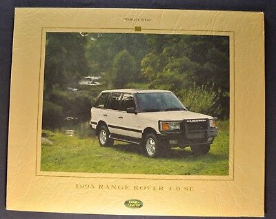 1995 Range Rover 4.0 SE Accessories Catalog Sales Brochure Excellent Original 95