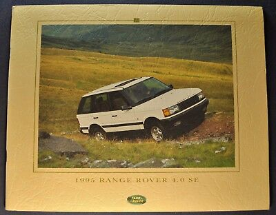 1995 Range Rover 4.0 SE Catalog Sales Brochure Excellent Original 95