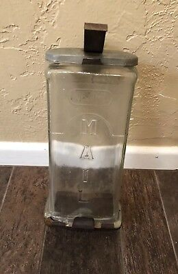 Vintage Glass Mailbox - Visible Mail