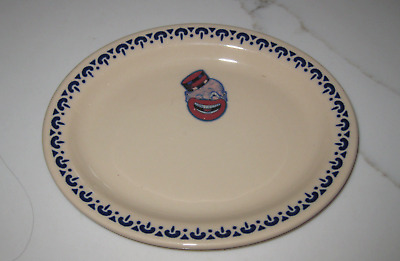 "Vintage RARE Original Cxxn Chicken Inn Oval 7"" French Fry Plate"