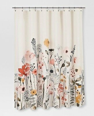 Gorgeous Watercolor Spring Floral Shower Curtain Pink Flower Pattern Art Deco
