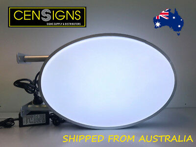 Oval LED Light box  / Circular Projecting Lightbox / Signs Supply