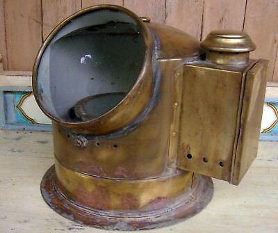 Vintage Kandela Salvage Binacle Brass with Kero Burner 22x25x20cm