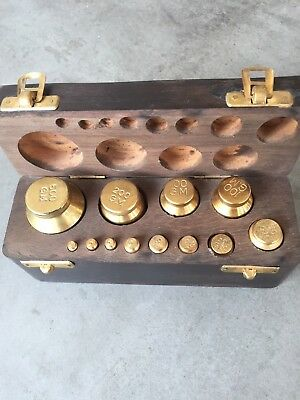 Antique Brass Weights-Complete for Balance Scale