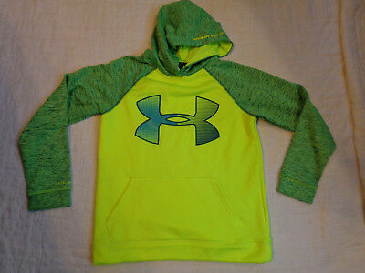 Under Armour Storm1 Cold Gear Fleece Lining,large Boys,ylg Hoodie Sweater,excell