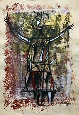 Rufino Tamayo, Mixed Media on Paper, 1974