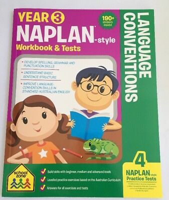 Naplan-style Year 3 Workbook & Tests - Language Conventions