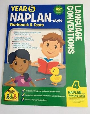 Naplan-style Year 5 Workbook & Tests - Language Conventions