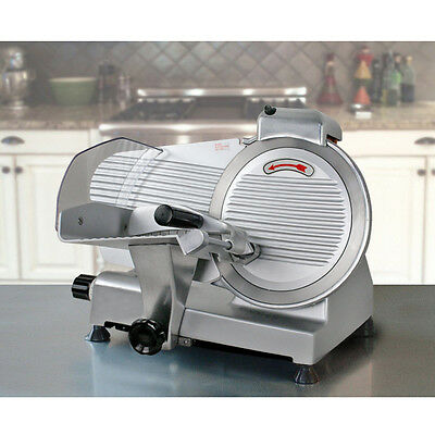 """Used Commercial Electric Meat Slicer 10"""" Blade 240w 530 rpm Deli Food cutter"""