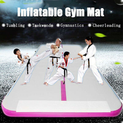 8M Inflatable Gym Mat Air Track Floor Tumbling Gymnastics Cheerleading Pad+Pump