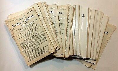 Seaby's Coin and Medal Bulletin - large lot 1948-1956 - 90 issues - #s 364-463